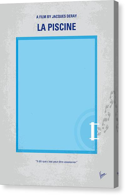Triangles Canvas Print - No137 My La Piscine Minimal Movie Poster by Chungkong Art