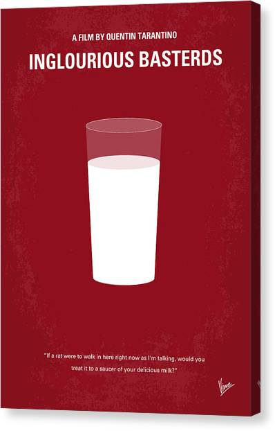 Baseball Canvas Print - No138 My Inglourious Basterds Minimal Movie Poster by Chungkong Art
