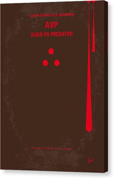 Aliens Canvas Print - No148 My Avp Minimal Movie Poster by Chungkong Art
