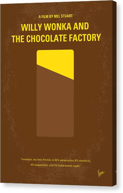 Grandpa Canvas Print - No149 My Willy Wonka And The Chocolate Factory Minimal Movie Poster by Chungkong Art
