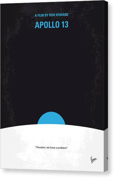 Moon Canvas Print - No151 My Apollo 13 Minimal Movie Poster by Chungkong Art