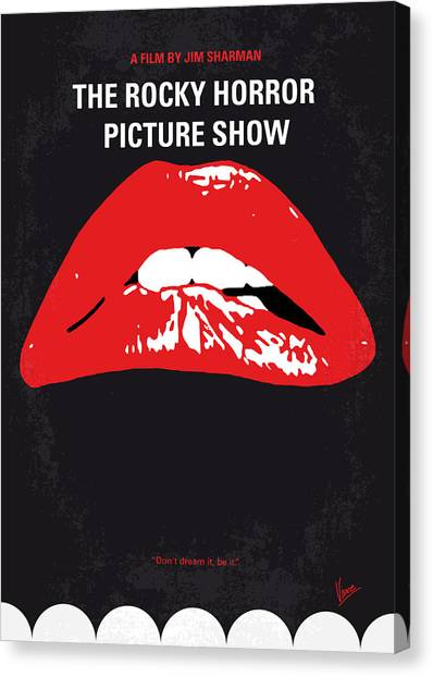 Horror Canvas Print - No153 My The Rocky Horror Picture Show Minimal Movie Poster by Chungkong Art