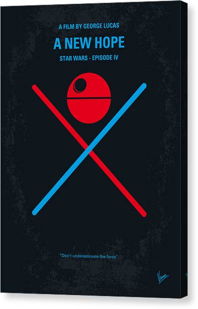Science Canvas Print - No154 My Star Wars Episode Iv A New Hope Minimal Movie Poster by Chungkong Art