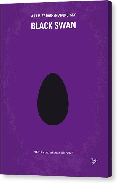 Swans Canvas Print - No162 My Black Swan Minimal Movie Poster by Chungkong Art