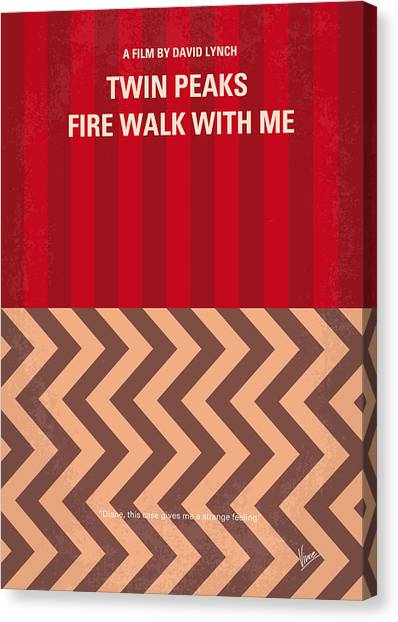 Fire Canvas Print - No169 My Fire Walk With Me Minimal Movie Poster by Chungkong Art