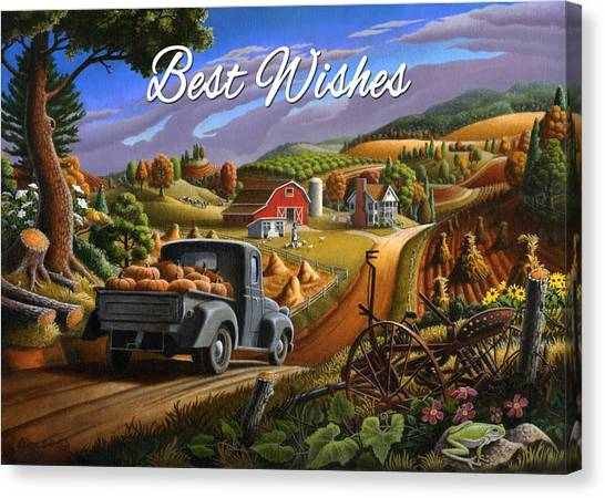no17 Best Wishes Canvas Print by Walt Curlee
