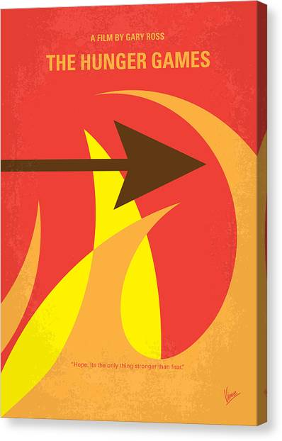 Bow Canvas Print - No175 My Hunger Games Minimal Movie Poster by Chungkong Art