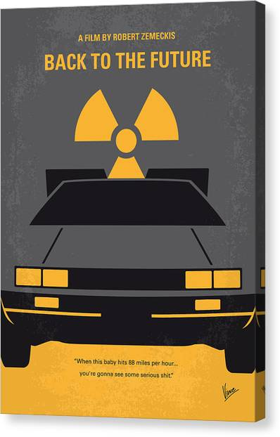 Brown Canvas Print - No183 My Back To The Future Minimal Movie Poster by Chungkong Art