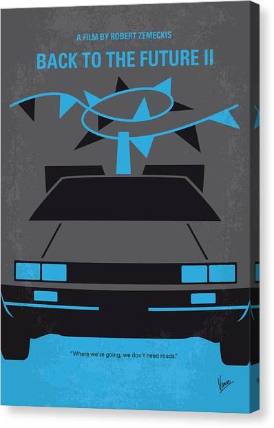Back To The Future Canvas Print - No183 My Back To The Future Minimal Movie Poster-part II by Chungkong Art