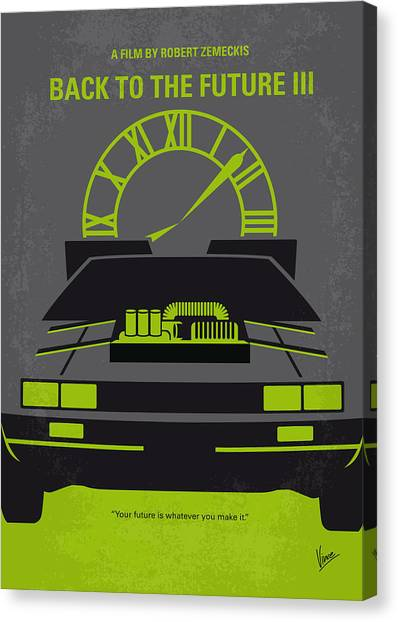 Back Canvas Print - No183 My Back To The Future Minimal Movie Poster-part IIi by Chungkong Art