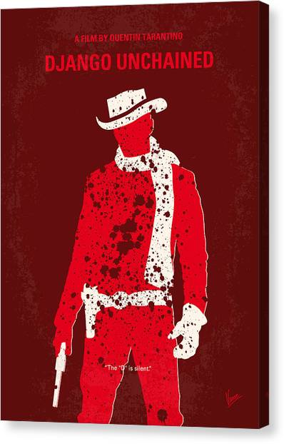 Racism Canvas Print - No184 My Django Unchained Minimal Movie Poster by Chungkong Art