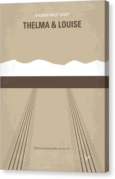 Cliffs Canvas Print - No189 My Thelma And Louise Minimal Movie Poster by Chungkong Art