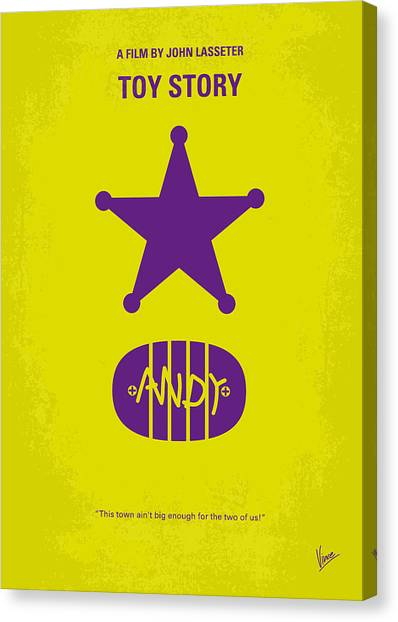 Disney Canvas Print - No190 My Toy Story Minimal Movie Poster by Chungkong Art