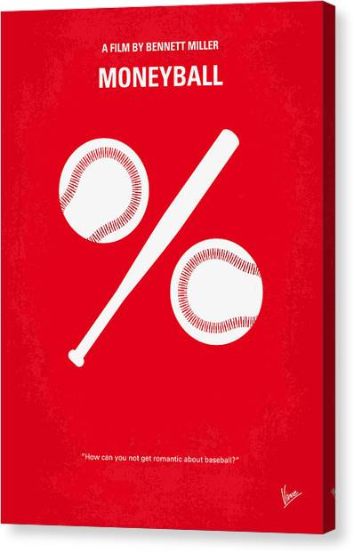 Design Canvas Print - No191 My Moneyball Minimal Movie Poster by Chungkong Art