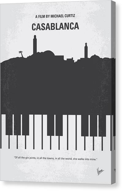 Hollywood Canvas Print - No192 My Casablanca Minimal Movie Poster by Chungkong Art