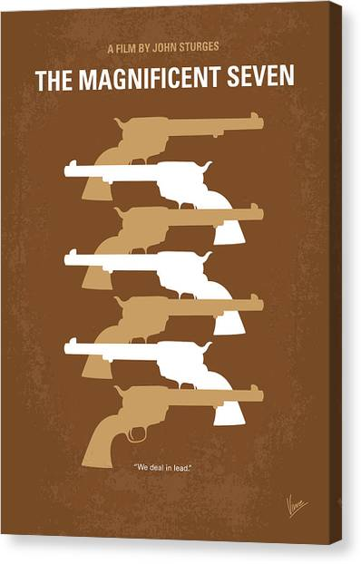 Mexican Canvas Print - No197 My The Magnificent Seven Minimal Movie Poster by Chungkong Art