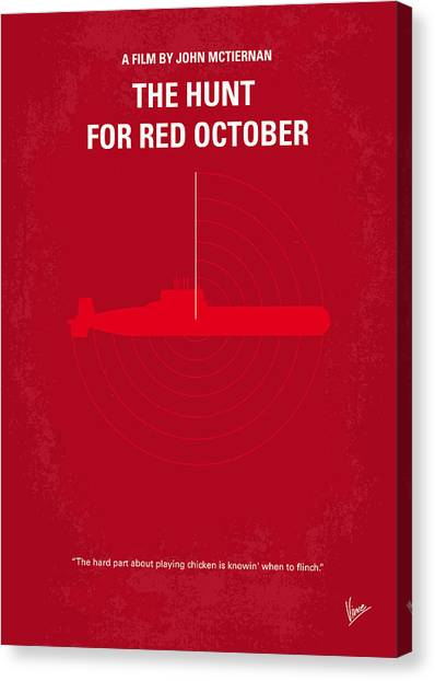 Red Canvas Print - No198 My The Hunt For Red October Minimal Movie Poster by Chungkong Art