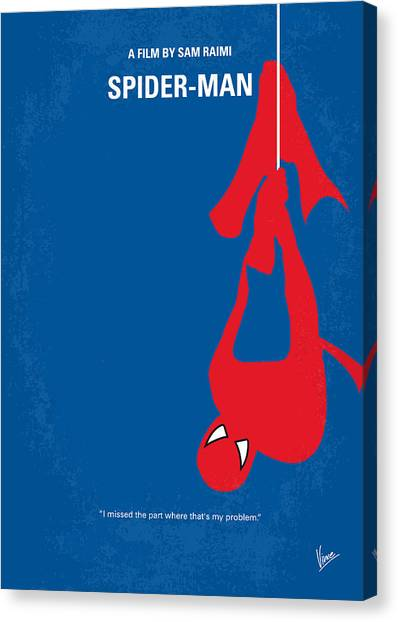 Mary Canvas Print - No201 My Spiderman Minimal Movie Poster by Chungkong Art