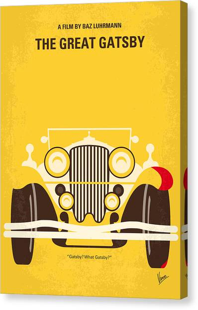 Quote Canvas Print - No206 My The Great Gatsby Minimal Movie Poster by Chungkong Art