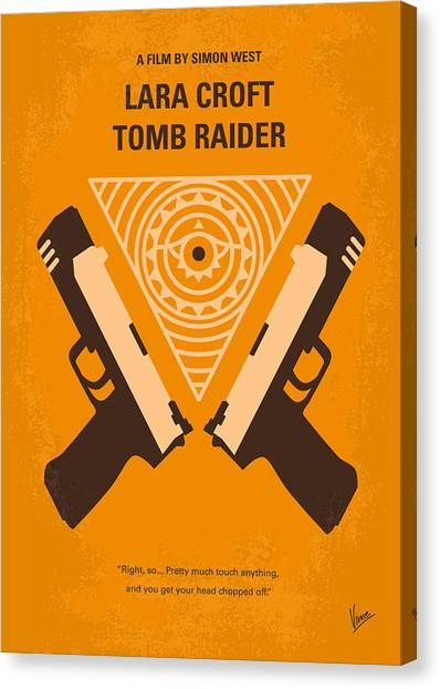 Egyptian Art Canvas Print - No209 Lara Croft Tomb Raider Minimal Movie Poster by Chungkong Art