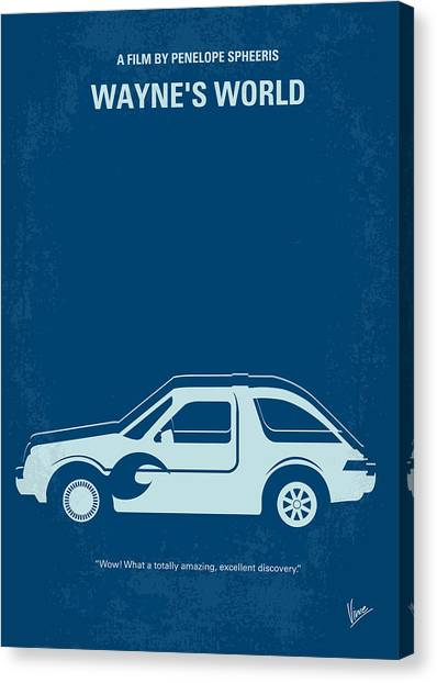Celebration Canvas Print - No211 My Waynes World Minimal Movie Poster by Chungkong Art