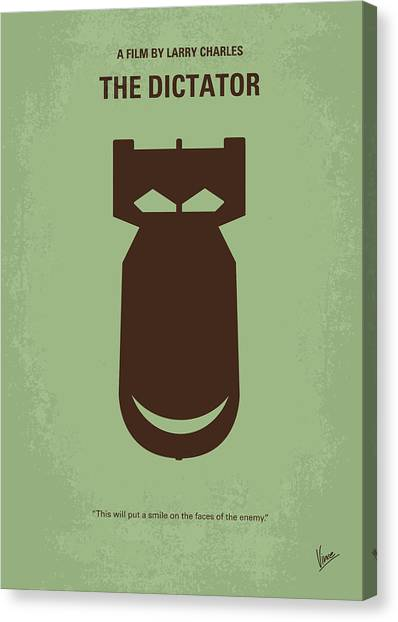Bombs Canvas Print - No212 My The Dictator Minimal Movie Poster by Chungkong Art