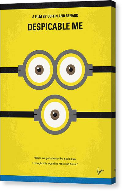Film Canvas Print - No213 My Despicable Me Minimal Movie Poster by Chungkong Art