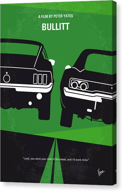 Hollywood Canvas Print - No214 My Bullitt Minimal Movie Poster by Chungkong Art