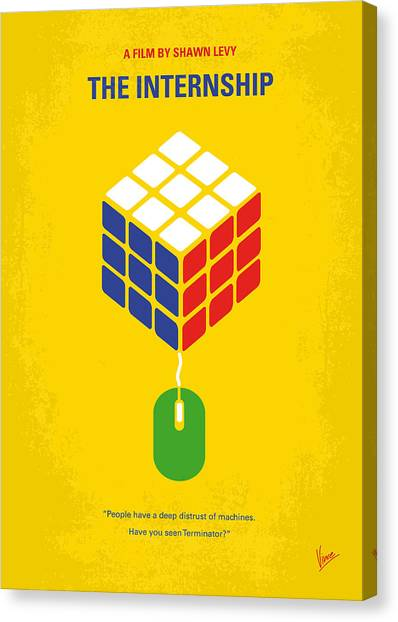 Stanford University Canvas Print - No215 My The Internship Minimal Movie Poster by Chungkong Art