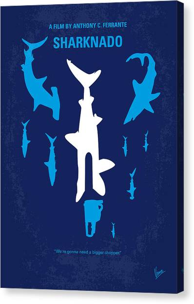 Sharks Canvas Print - No216 My Sharknado Minimal Movie Poster by Chungkong Art