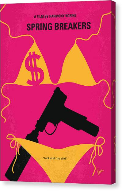 Spring Canvas Print - No218 My Spring Breakers Minimal Movie Poster by Chungkong Art