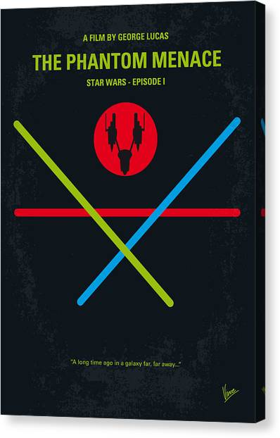 Jedi Canvas Print - No223 My Star Wars Episode I The Phantom Menace Minimal Movie Poster by Chungkong Art