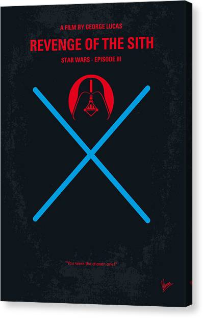 Jedi Canvas Print - No225 My Star Wars Episode IIi Revenge Of The Sith Minimal Movie Poster by Chungkong Art