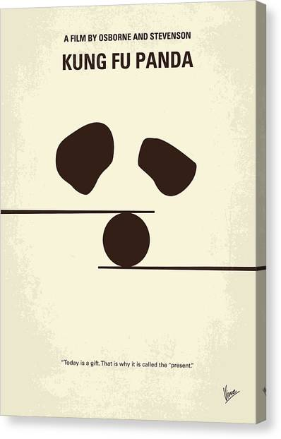 Dragons Canvas Print - No227 My Kung Fu Panda Minimal Movie Poster by Chungkong Art