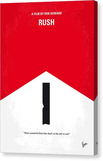 Formula Car Canvas Print - No228 My Rush Minimal Movie Poster by Chungkong Art