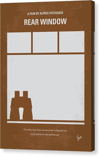 Window Canvas Print - No238 My Rear Window Minimal Movie Poster by Chungkong Art