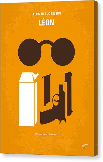 Milk Canvas Print - No239 My Leon Minimal Movie Poster by Chungkong Art