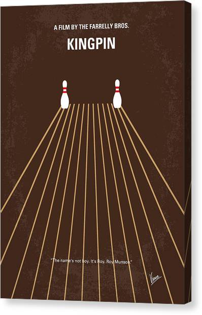 Bowling Canvas Print - No244 My Kingpin Minimal Movie Poster by Chungkong Art