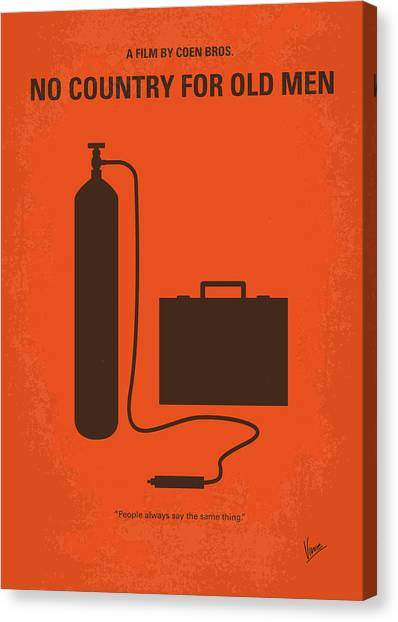 Rio Grande Canvas Print - No253 My No Country For Old Men Minimal Movie Poster by Chungkong Art