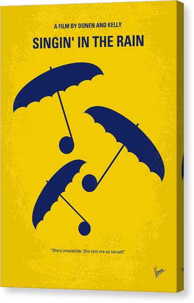 Raining Canvas Print - No254 My Singin In The Rain Minimal Movie Poster by Chungkong Art