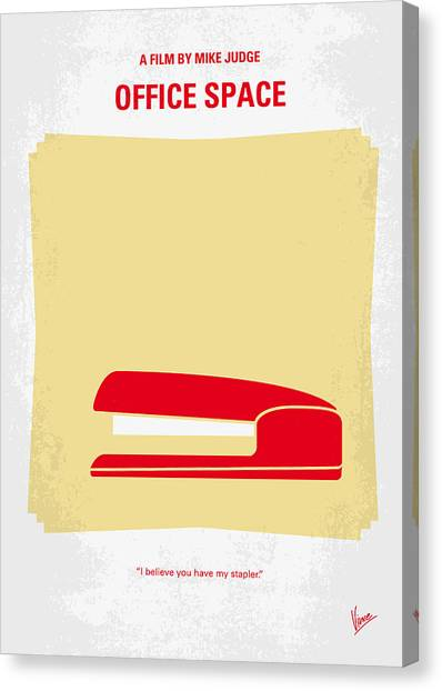 Minimalism Canvas Print - No255 My Office Space Minimal Movie Poster by Chungkong Art