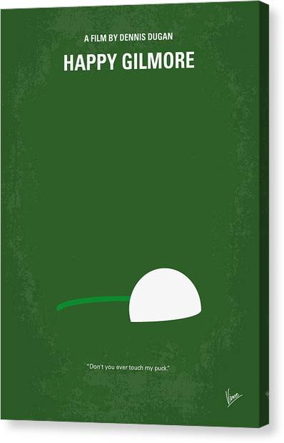 Hockey Players Canvas Print - No256 My Happy Gilmore Minimal Movie Poster by Chungkong Art