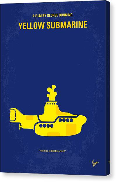 Los Angeles Canvas Print - No257 My Yellow Submarine Minimal Movie Poster by Chungkong Art
