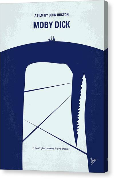 Minimalism Canvas Print - No267 My Moby Dick Minimal Movie Poster by Chungkong Art