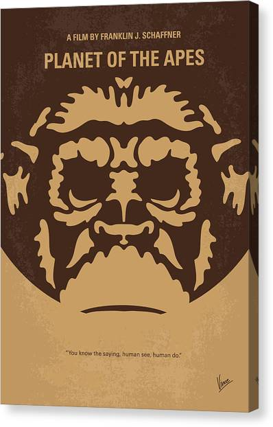 Primates Canvas Print - No270 My Planet Of The Apes Minimal Movie Poster by Chungkong Art