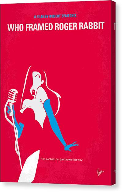 Animation Canvas Print - No271 My Roger Rabbit Minimal Movie Poster by Chungkong Art