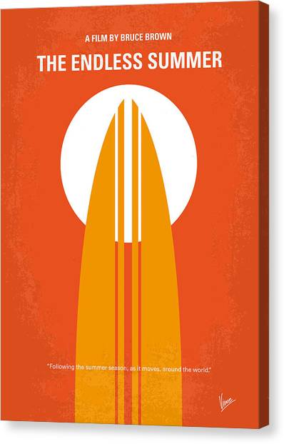 Brown Canvas Print - No274 My The Endless Summer Minimal Movie Poster by Chungkong Art