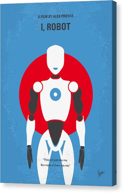 Law Canvas Print - No275 My I Robot Minimal Movie Poster by Chungkong Art