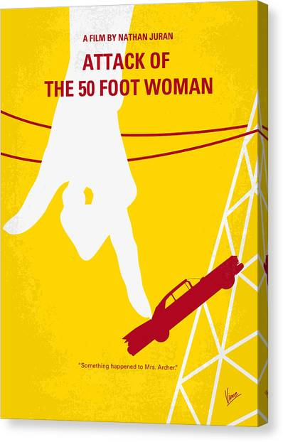 Feet Canvas Print - No276 My Attack Of The 50 Foot Woman Minimal Movie Poster by Chungkong Art