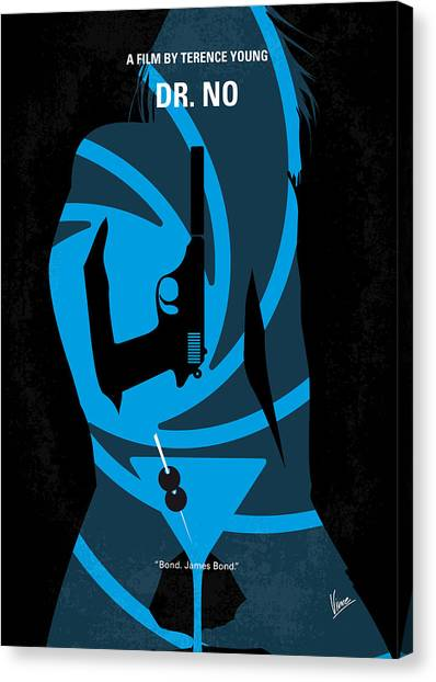 Cia Canvas Print - No277-007 My Dr No Minimal Movie Poster by Chungkong Art